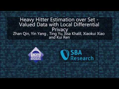 CCS 2016 - Heavy Hitter Estimation over Set-Valued Data with Local Differential Privacy