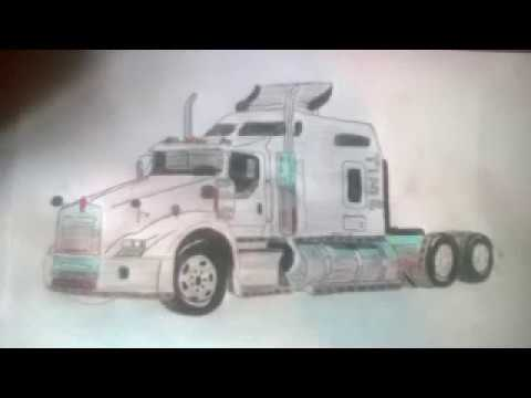 Dibujando Un Kenworth T800 Youtube