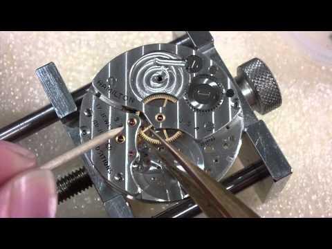 How I assemble a pocket watch, Hamilton 917