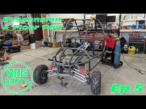 Twin 18hp Engine Buggy Build Ep. 5 ~ Front Suspension & Floor
