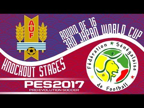 Uruguay vs. Senegal - 3rd Japan World Cup - Round of 16 - PES2017 - 60fps