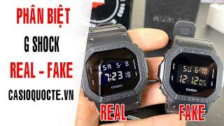 Đập hộp & hướng dẫn cách phân biệt đồng hồ G Shock thật và giả (fake) Casioquocte.vn
