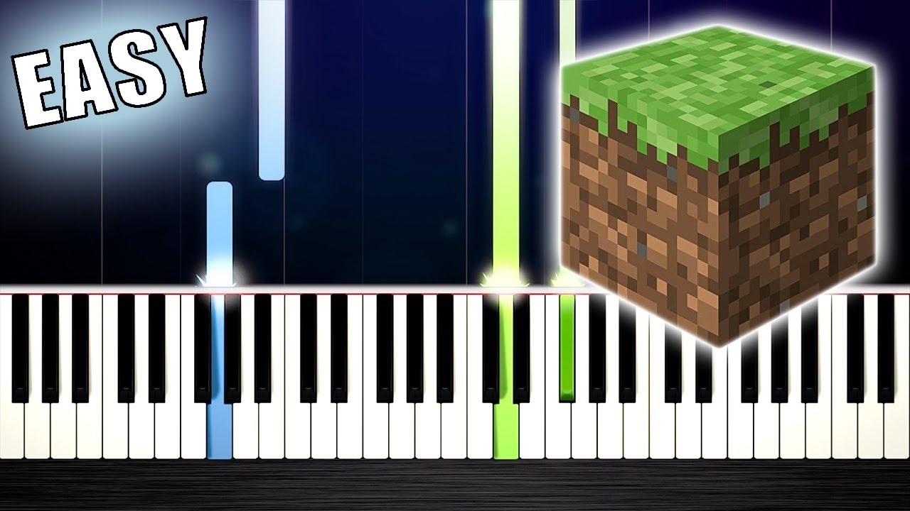 Minecraft - Sweden - EASY Piano Tutorial by PlutaX