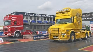 Trucks Drag Racing at Santa Pod Raceway