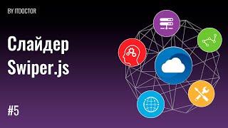 Как сделать адаптивный слайдер слайд-шоу API Swiper, Урок №5