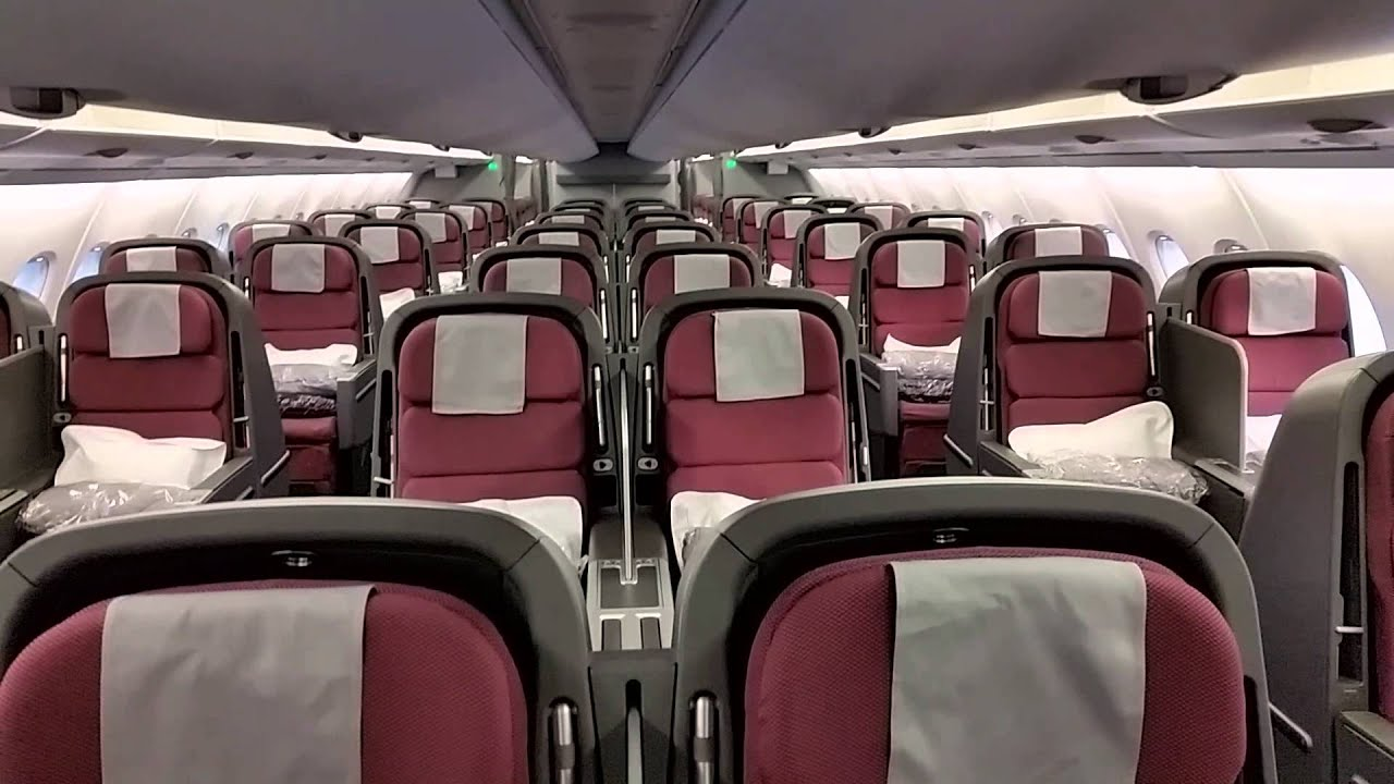 Qantas A380 cabin walkthrough - upper deck - YouTube on