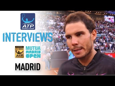 Nadal Thrilled With Winning Fifth Madrid Title