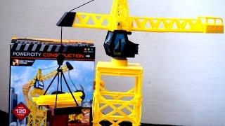 Подъемный кран. Строительная техника для детей. Рабочие машины(Смотрите видео про строительные машины. Главным строителям города подарили большой подъемный кран (башены..., 2016-11-12T03:00:01.000Z)