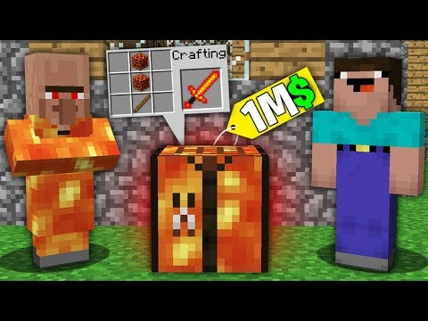 Minecraft NOOB Vs PRO:NOOB BOUGHT THIS LAVA CRAFTING TABLE FOR 1.000.000$! Challenge 100% Trolling