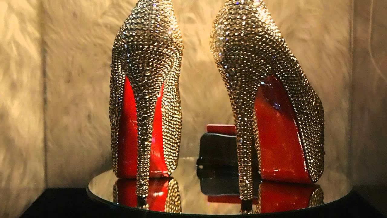 9ee1534f4 Christian Louboutin Daffodile 160mm strass in Swarovski Gold Rimmed Crystals  by domyshoesstl com