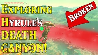 Exploring Hyrule's DEATH CANYON! When 1 GLITCH is Not Enough in Zelda Breath of the Wild amiibo