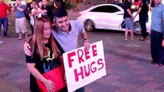 Free hugs in public - Malaysia