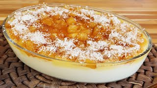 A Melhor Sobremesa De Abacaxi  – Super Fácil