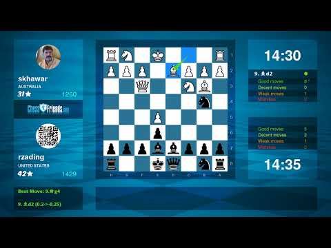 Chess Game Analysis: skhawar - rzading : 0-1 (By ChessFriends.com)