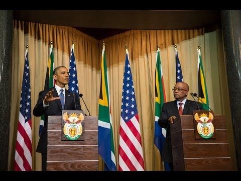 President Obama and President Zuma Hold a Press Conference