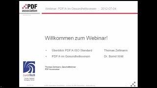 Webinar: PDF/A im Gesundheitswesen; Bernd Wild und Thomas Zellmann