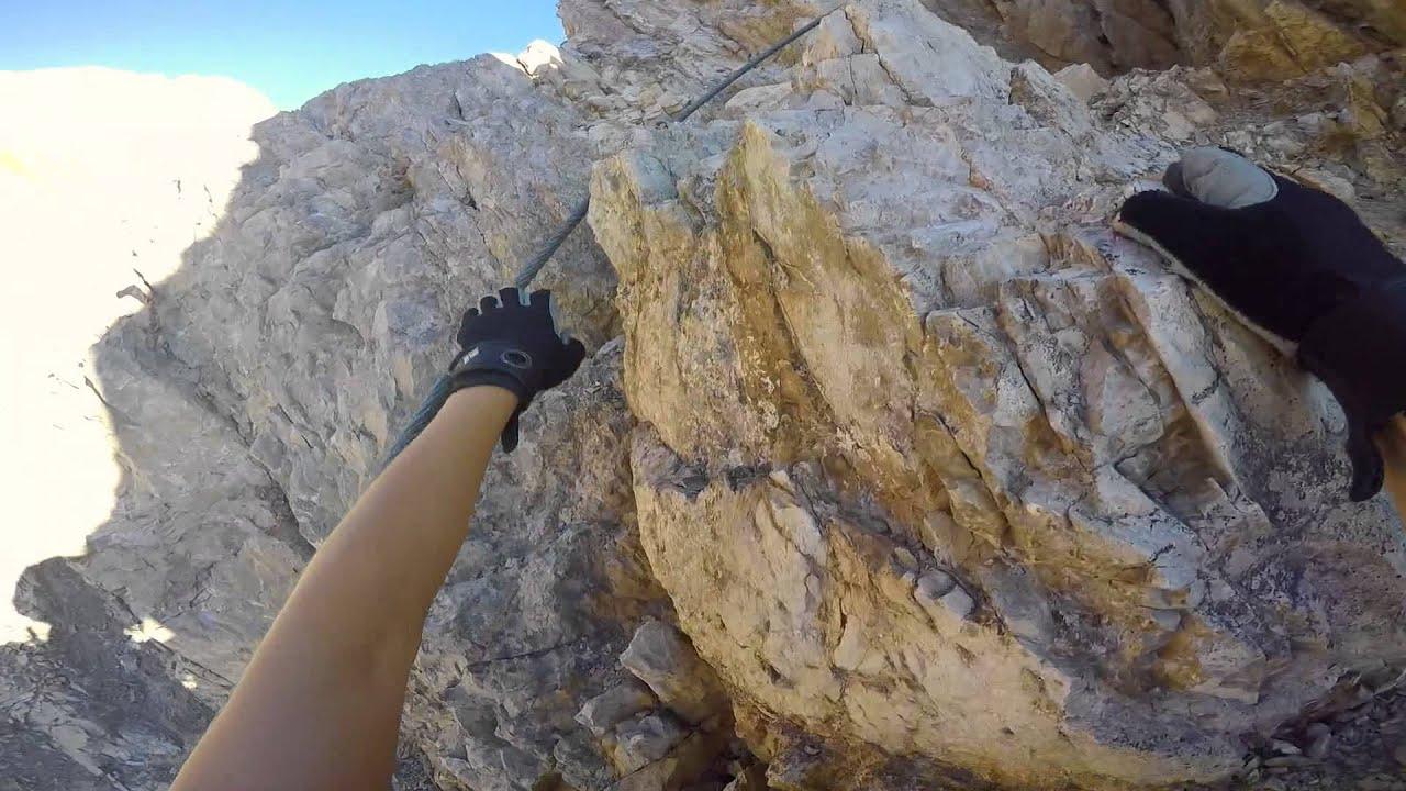 Klettersteig Wankspitze : Klettersteig wankspitze m youtube