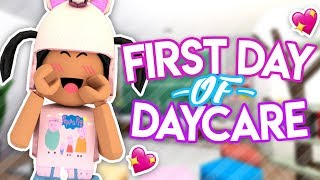 FIRST DAY OF DAYCARE!! II Roblox Bloxburg