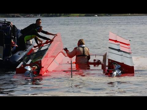 Fazza Airborne jumps over Relekta class 1 offshore racing