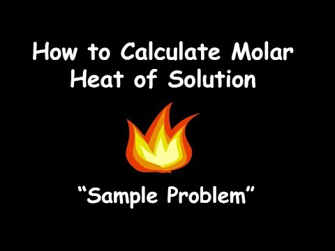 how to calculate molar heat of solution sample problem
