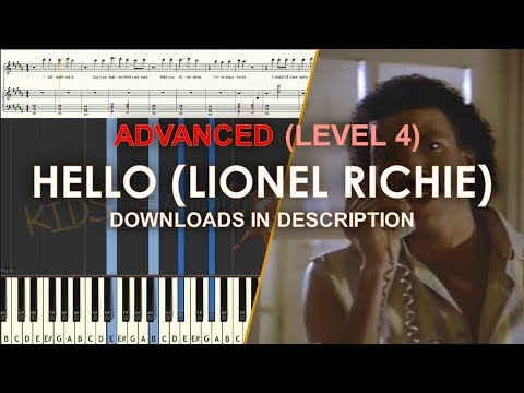How to play Hello by Lionel Richie difficult LEVEL 4 cover tutorial