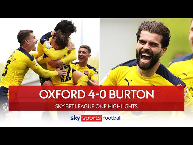 Oxford United secure League One play-off spot! 🎉| Oxford 4-0 Burton | EFL Highlights