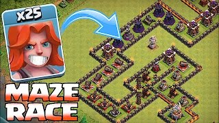 Clash Of Clans - TH8 TROLL MAZE BASE!!! (Valks,Giants & Pekkas)