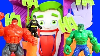Imaginext Superman Justice League Rescue Batman Robin And Cyborg From Villians