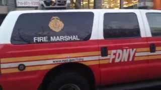 RARE Catch of FDNY Fire Marshal Car On Scene of a 5 Alarm Fire