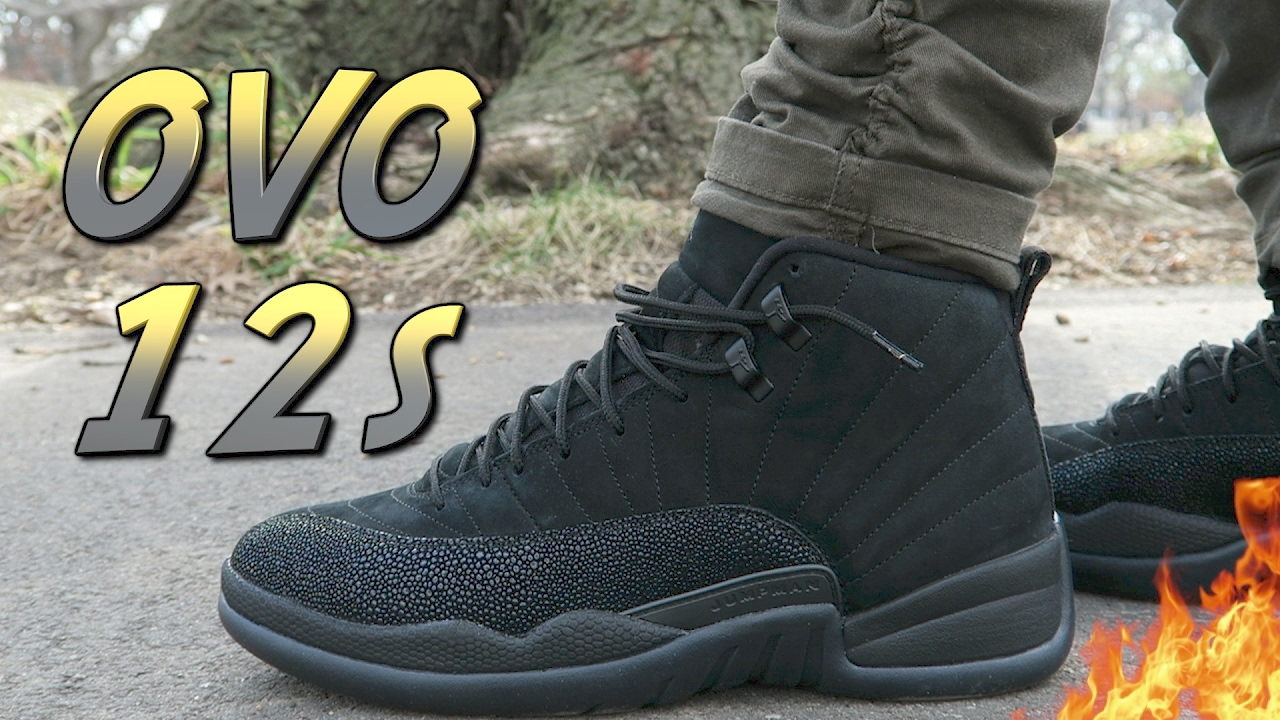 brand new 9f84b b3539 BLACK JORDAN 12 'OVO' REVIEW AND ON-FOOT