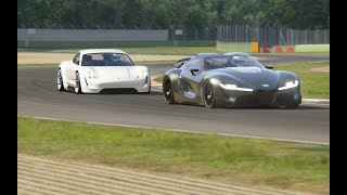 Battle Porsche Mission R Concept vs Supercars at Imola