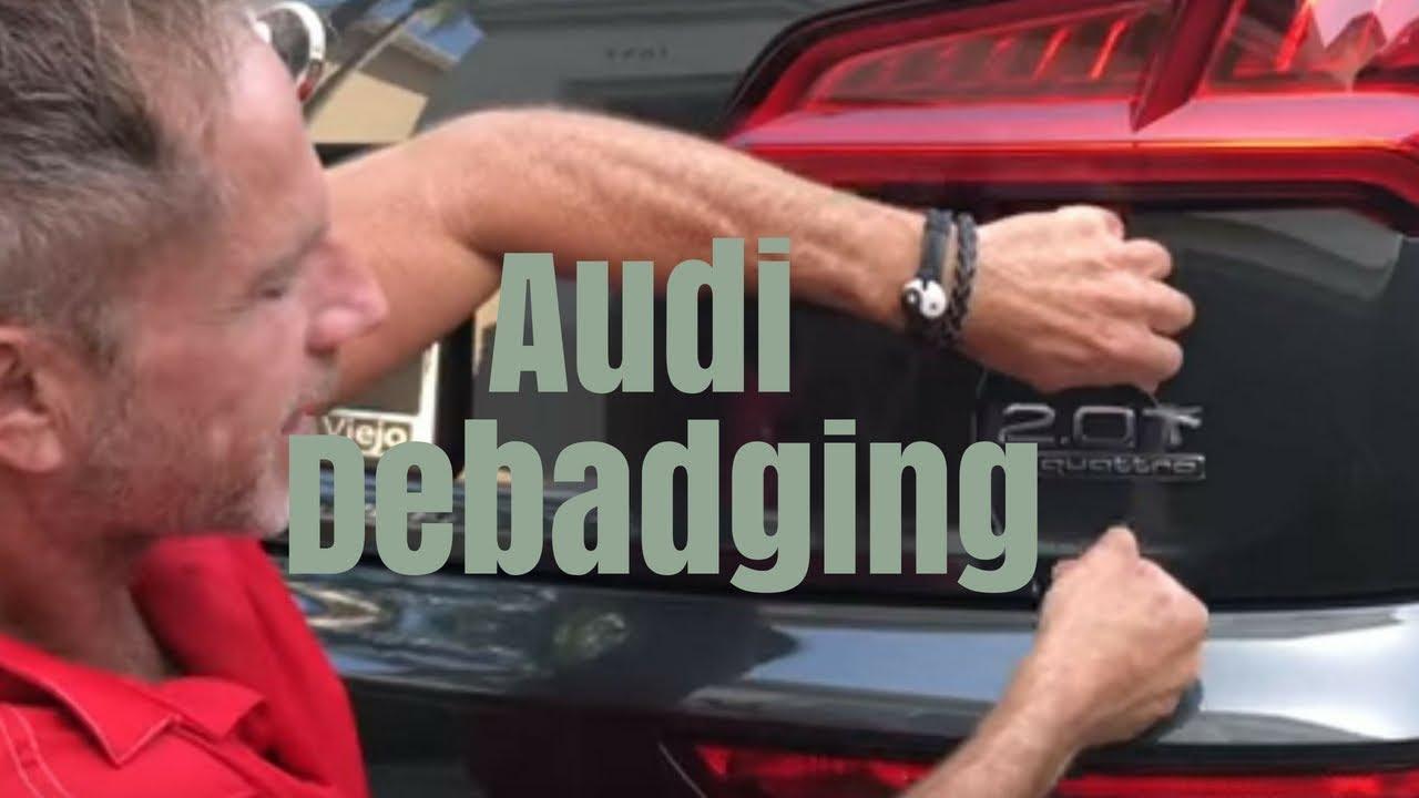 Audi debadging: Removing the car emblems off Audi Quattro