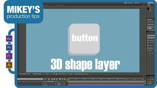 3D button shape layer after effects tutorial