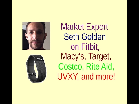 Market expert Seth Golden on Fitbit, UVXY, GoPro, Target, Macy's, Costco, Rite Aid, and more!