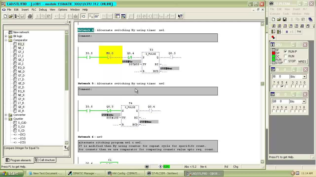 Tutorial Of Siemens Step 7 Plc Programming Using Simatic