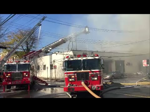 FDNY Providing Mutual Aid To The City Of Mount Vernon As FDMV Fight A 3rd Alarm Fire In A Bakery