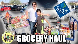 MASSIVE SAM'S CLUB GROCERY HAUL | LARGE FAMILY SHOP WITH ME | BIG HAUL SUMMER SHOPPING ON A BUDGET
