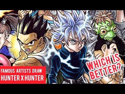 Famous Manga Artists Hunter X Hunter Drawings Youtube