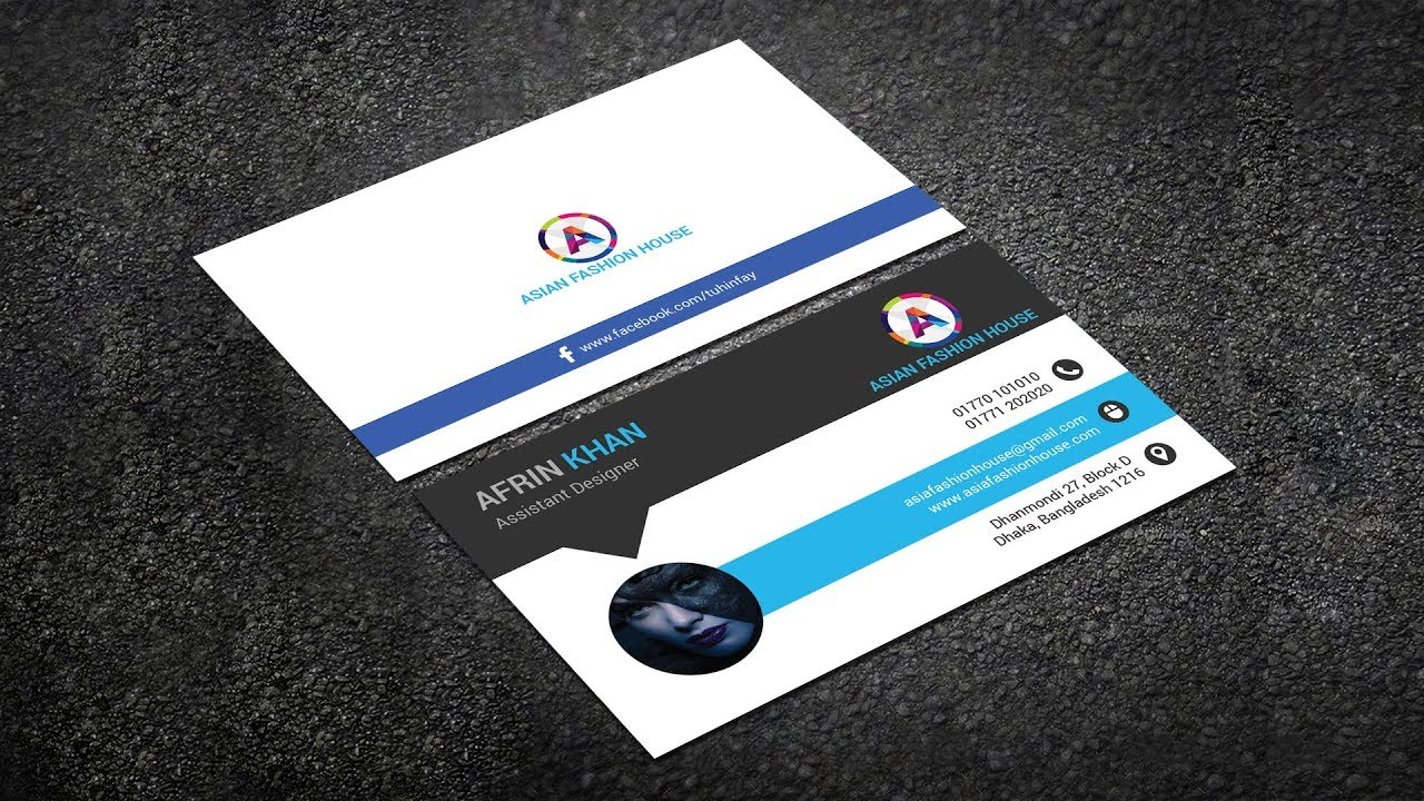 How to design Business Card for a Fashion Designer in Photoshop ...