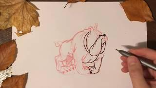cómo dibujar un perro de dibujos animados