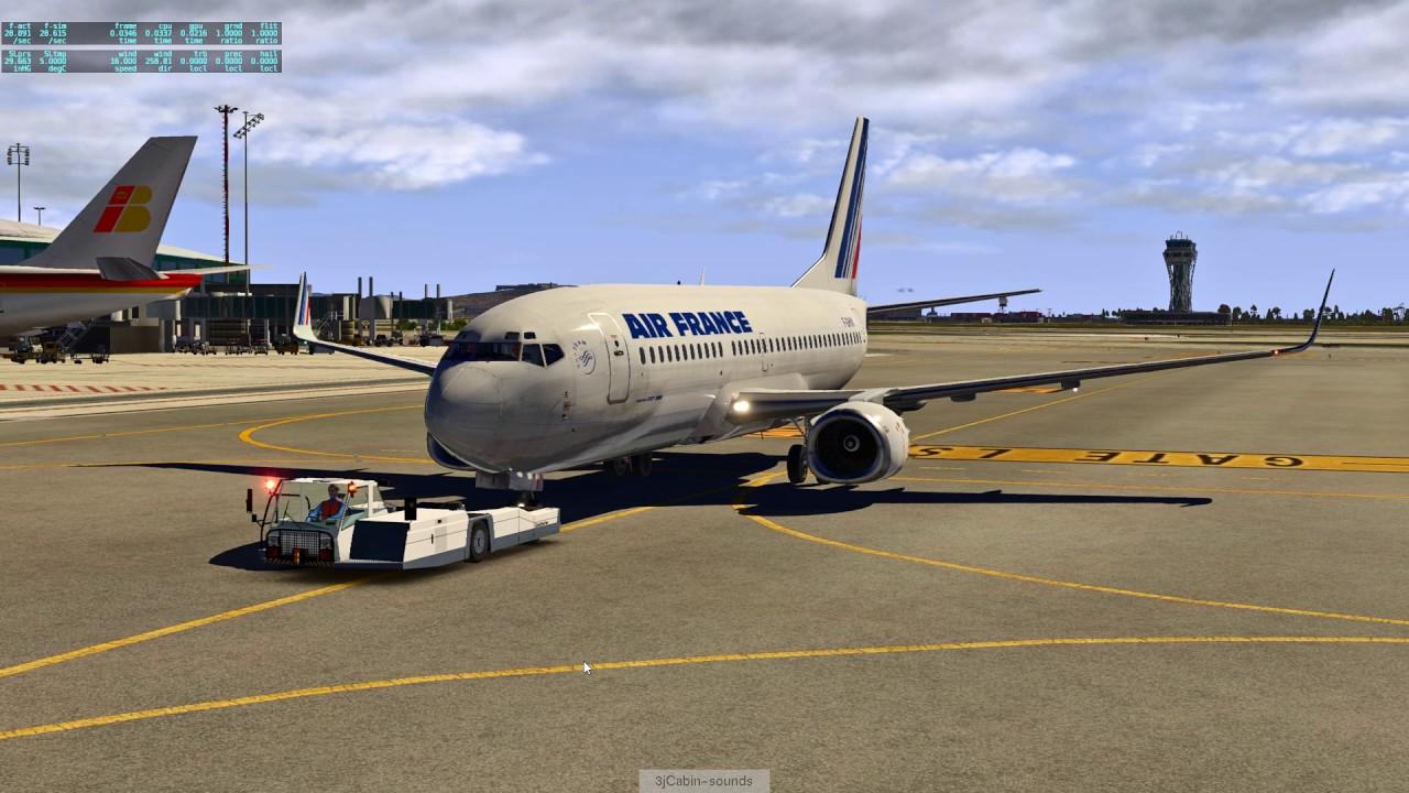 X Plane 11 B737-300 découverte better pushback uwxp et retrouvailles