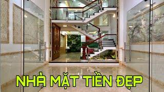 Bán nhà Gò Vấp( 102 ) Nhà mặt tiền Kinh Doanh đường 12m thiết kế 4 lầu rất đẹp ở Nguyễn Oanh Gò vấp