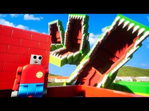 A Giant Three Headed Snake Ate My Best Friends and Is Attacking The Lego City of Brick Rigs!
