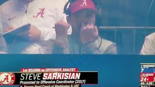 Steve Sarkisian eats booger on national TV
