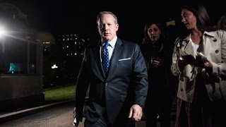 Spicer BUSTED Hiding From Reporters In Bushes
