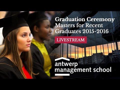 Graduation Ceremony Masters for Recent Graduates 2015-2016