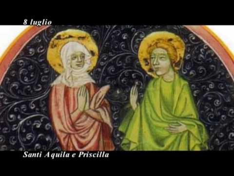 Il Santo Del Giorno Santi Aquila E Priscilla Youtube