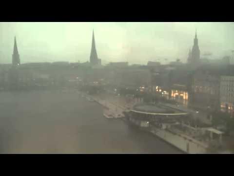 EarthCam - Hamburg - Severe Rainstorm - 05.05.15