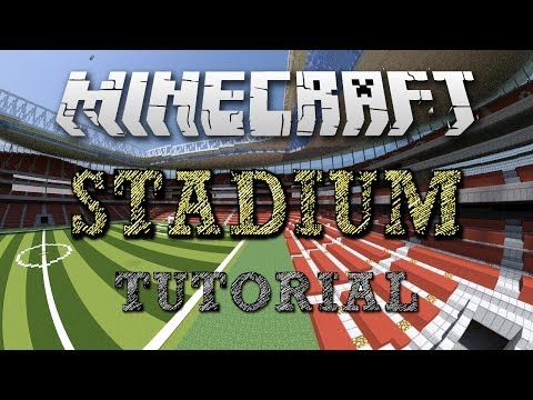 Minecraft Stadium Tutorial - Part 1 - The Soccer/Football, Field/Pitch