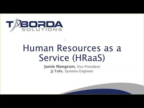 Taborda Solutions, Inc -  Presents Human Resources as a Service (HRaaS)
